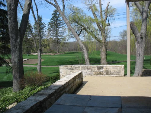 golf course, patio, spring