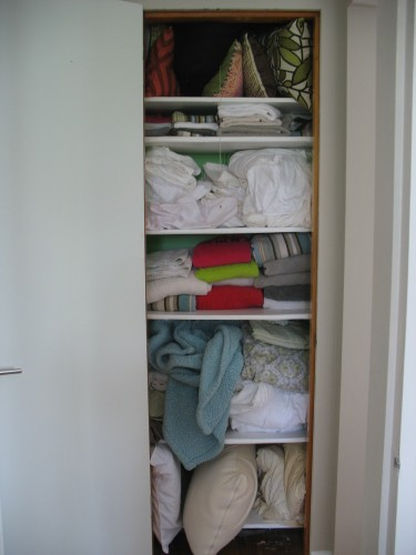 linen closet, march 2012