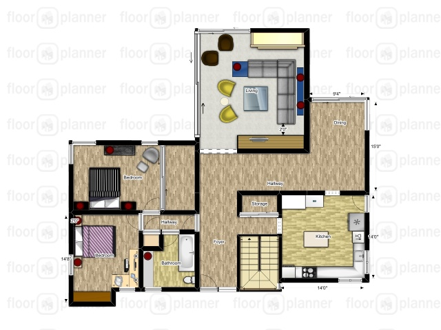 floor plan, house layout, floorplanner.com